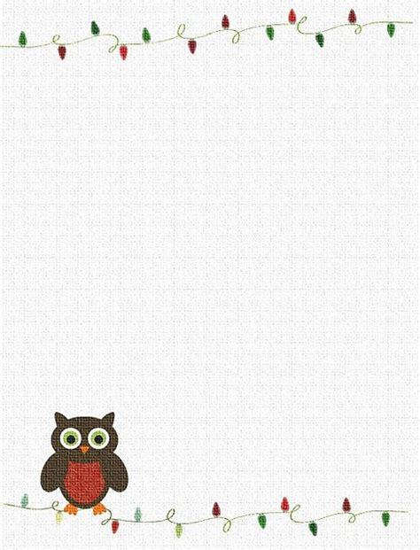 free printable owl letterhead 7 best images of owl printable stationary free printable