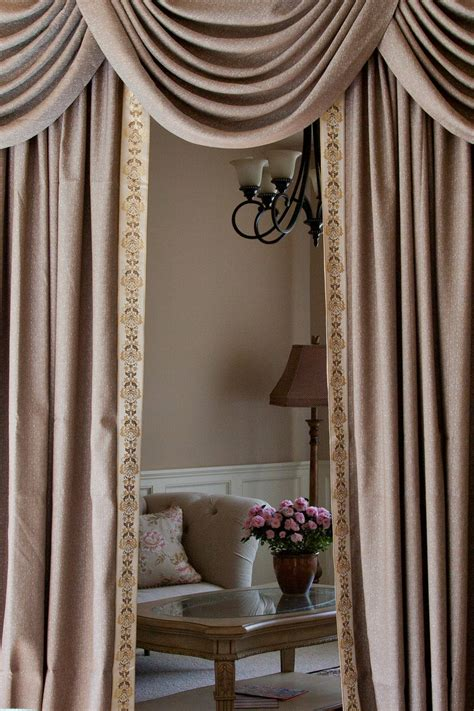 draperies com shimmering espresso swag valance curtain set