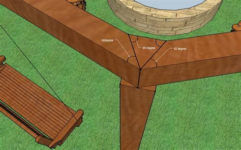 hexagon swing plans how to build an outdoor pergola firepit and swings