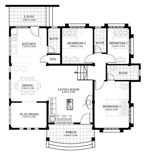how big is 1500 square feet 1500 square feet 3 bedroom new modern house design and