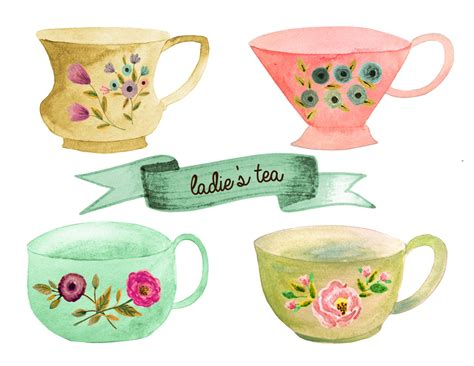 tea cup clip teacup clipart tea set pencil and in color teacup