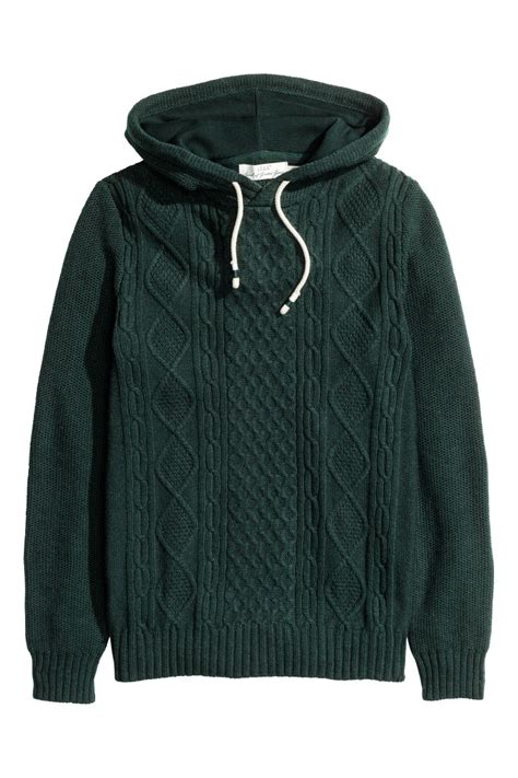 Hm Sweater Invert Fit Xl hooded sweater green sale h m us