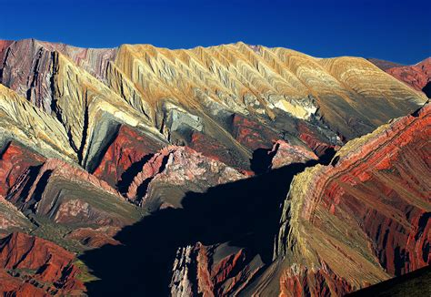 hill of seven colors mountain in argentina thousand