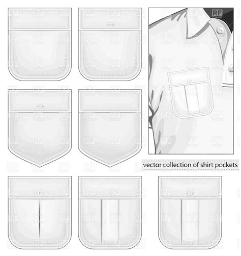 Tshirt Vector Big Breads collection of shirt pockets vector image vector artwork