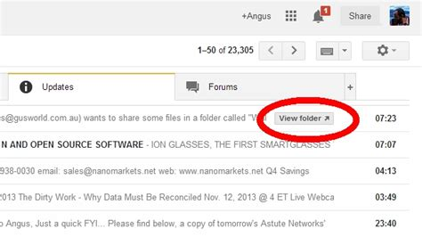 dropbox quick action button gmail now has buttons for opening shared dropbox and