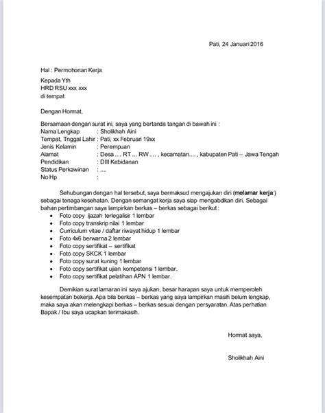 format surat lamaran kerja pending desa contoh penulisan surat lamaran pekerjaan untuk bidan