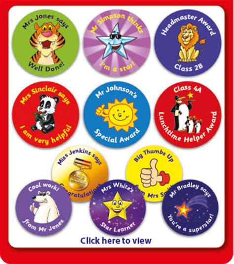 Aufkleber Schule by School Badges And Reward Stickers From Primary Teaching