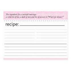 bridal shower recipe card postcard zazzle