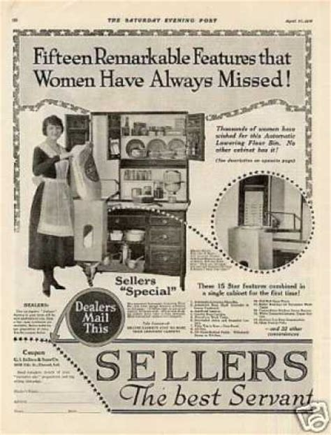 kitchen cabinet advertisement vintage household ads of the 1910s page 5