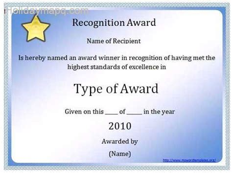 Award Certificate Template Microsoft Word by Certificate Template Word Map Travel