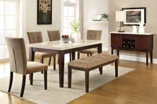 upholstered dining room sets dining room set with upholstered bench and leather