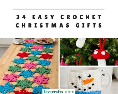 34 easy crochet christmas gifts favecrafts com