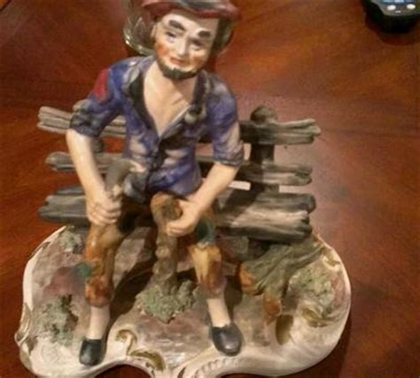 capodimonte man on bench capodimonte man large on bench antique price guide details page