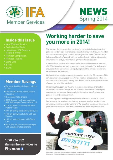 Newsletter Service Ifa Member Services Newsletter 2014