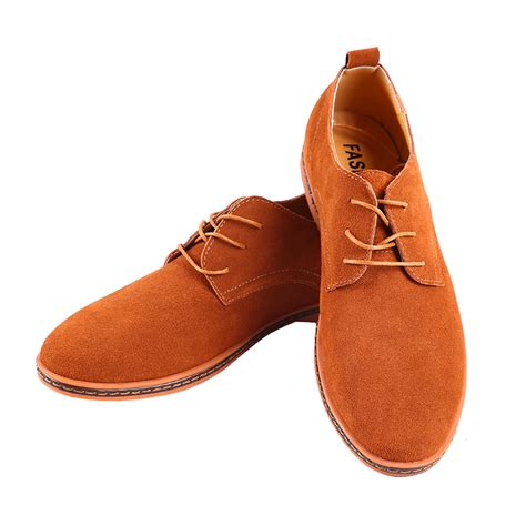 fashionable comfort shoes fashion men genuine suede leather shoes new oxfords casual