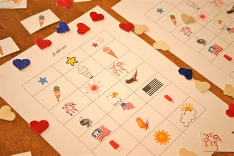 printable spanish games spanish game for kids 4th of july printable spanish