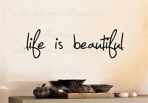 Red And Purple Home Decor life is beautiful wall decal sticker quote