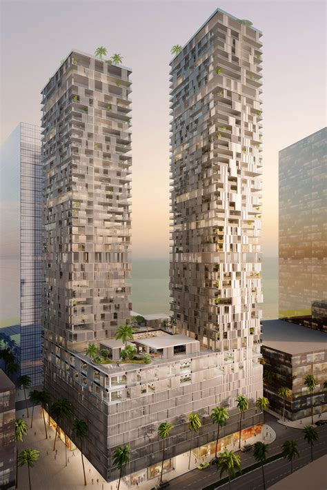 contemporary architect pixilated contemporary architecture bahrain bay tower by
