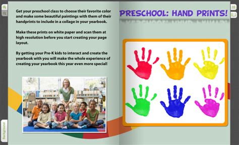 prints interactive colorful for pre k yearbooks