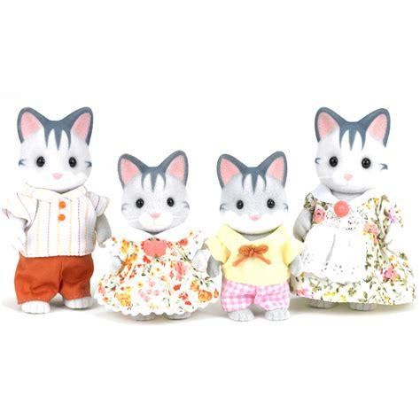 sylvanian families cat family grey cat family figures from sylvanian families wwsm