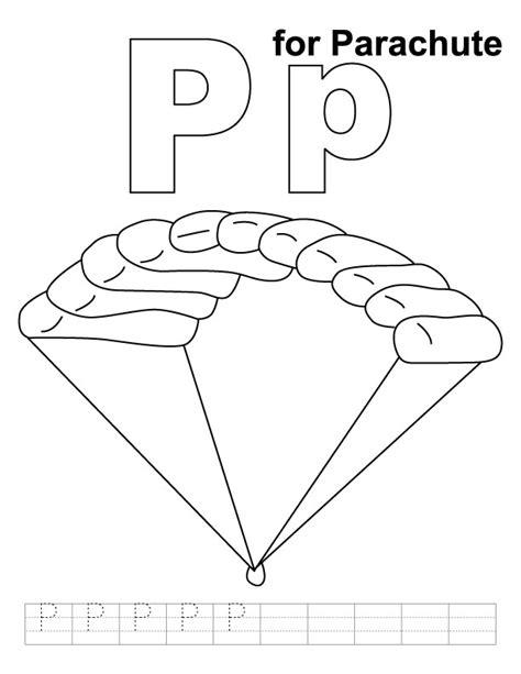 parachute coloring pages az coloring pages