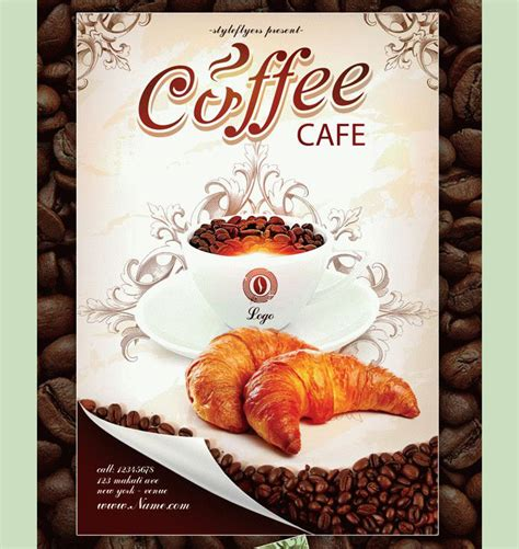 template flyer cafe 23 coffee shop flyer templates free and premium designyep