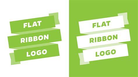 Flat Ribbon illustartor flat ribbon logo tutorial
