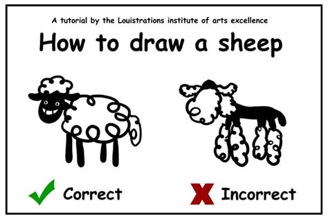 how to a sheep tutorial how to draw a sheep by louistrations on deviantart