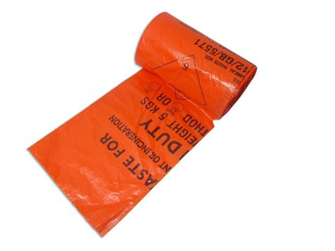 waste bags orange clinical waste bags 100 pack waste management janitorial supplies uk