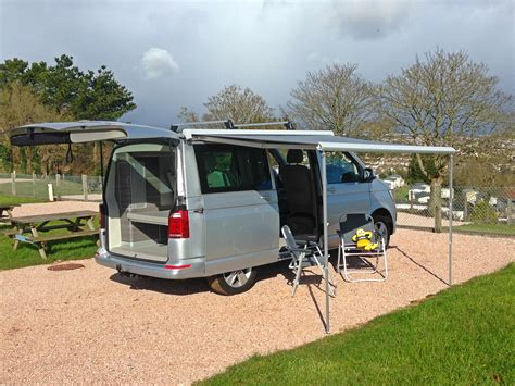 vw california awning vw california cervan motorhome hire in devon