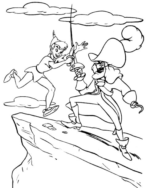 pan colouring pages