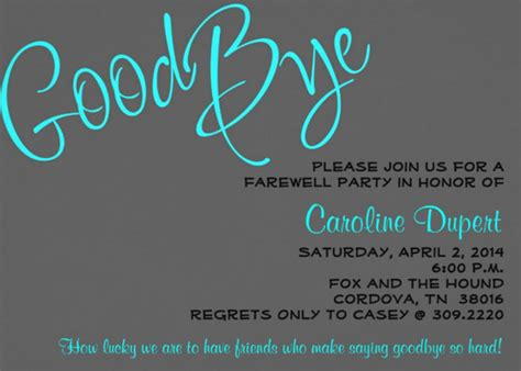 farewell party invitation template cimvitation