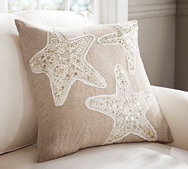 pottery barn starfish rug sequin coastal starfish embroidered pillow covers pottery barn
