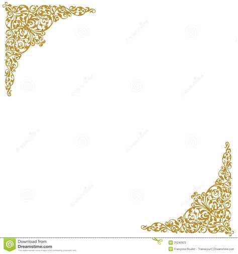 gold decorative corners stock photos image 25240923