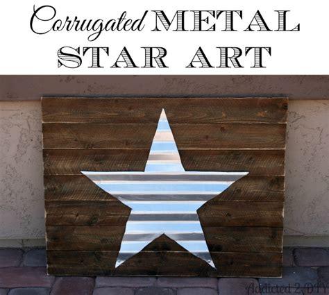 Home Decor Blogs 2014 Corrugated Metal Star Art Patriotic Summer Blog Hop And