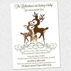 printable deer family baby shower invitation woodland
