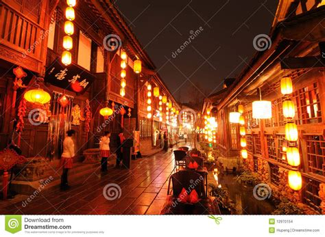 new year period in china new year in jinli editorial stock image
