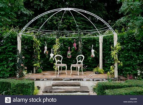 italian style backyard a garden design inspired by musical instruments in the italian style stock photo