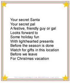secret pal quotes secret santa poems clever sayings gift ideas