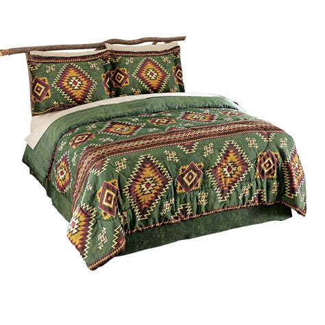 lake tahoe aztec comforter set by collections etc ebay
