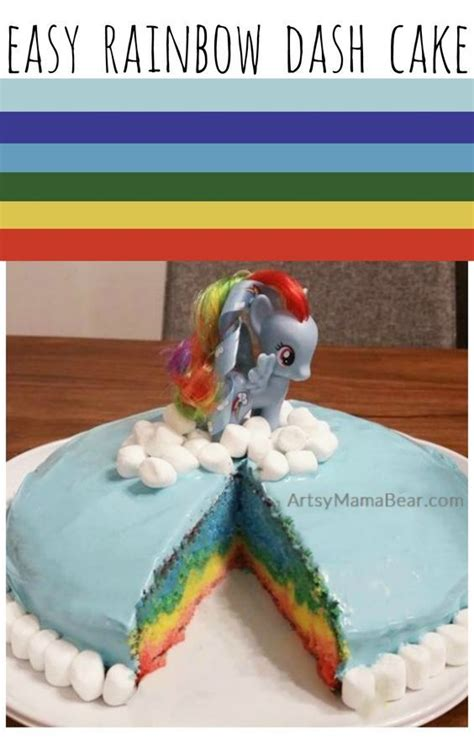 rainbow dash cake template tasty my pony cake recipes on my