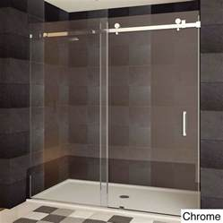 shower doors sliding frameless lesscare ultra b 44 48x76 inch semi frameless sliding