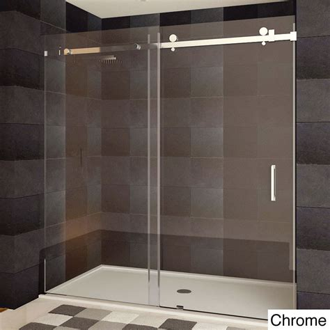 Frameless Shower Door Sliding Lesscare Ultra B 44 48x76 Inch Semi Frameless Sliding Shower Doors Ebay