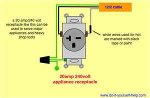 wiring diagram for a 20 240 volt receptacle
