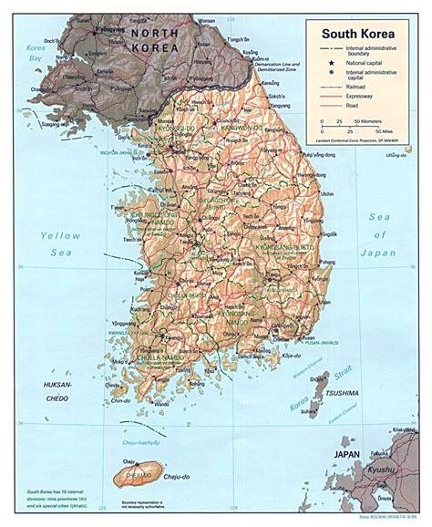 map of south maps of south korea detailed map of south korea in