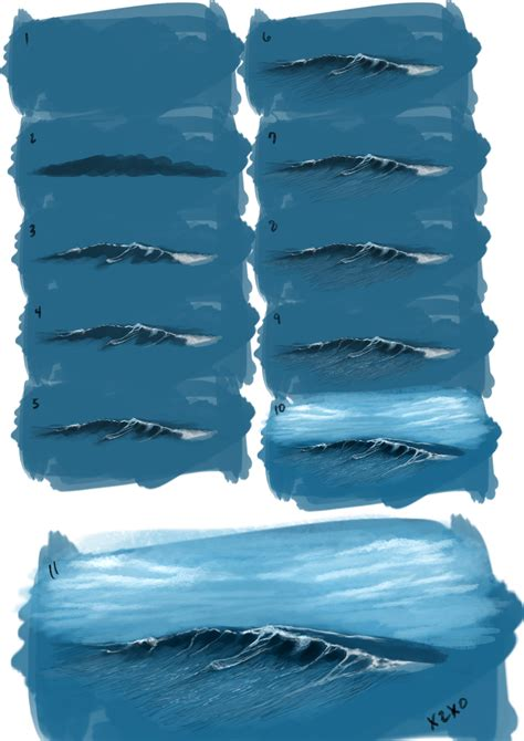 watercolor waves tutorial painting waves by x2x0 art on deviantart