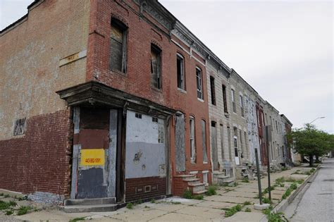 baltimore row houses for sale baltimore vacants are linked to crime as are other