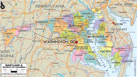 united states map of maryland detailed political map of maryland ezilon maps