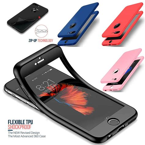 thin shockproof hybrid 360 tpu gel cover for apple iphone 10 x 8 7 plus 6 5 eur 2 23