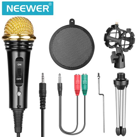 Pop Filter Untuk Stand Mic Microphone Condenser Layer neewer home studio condenser microphone with mic stand and